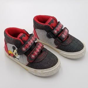 Disney Mickey Mouse High Top Sneakers 7T